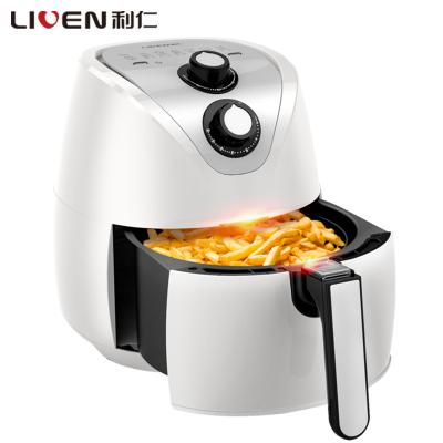 利仁(Liven)空氣炸鍋KZ-J3400A 3.5L/升 高溫脫脂 低溫煎炸 旋鈕式調溫 炸雞鍋薯條機(白色)