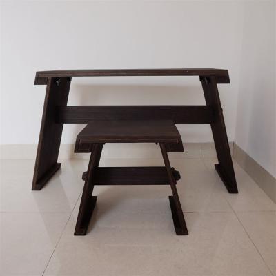 拆卸古琴桌凳复古组装烧桐木专业仿古桌深色便携式共鸣箱国学桌 组装 单张凳