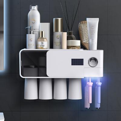 一衛(yweel)智能牙刷消毒器紫外線殺菌烘干置物架 紫外線消毒牙刷架(白色款)-34665