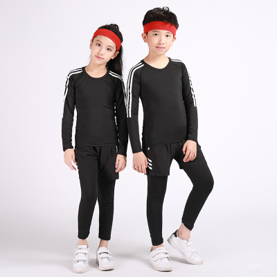 18公主(SHIBAGONGZHU)兒童緊身衣訓練服套裝男女小孩籃球足球跑步健身服運動打底速干衣