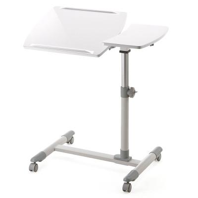 日本山業(Sanwa Supply)100-DESK040筆記本升降多功能桌/電腦桌/可移動/移動腳輪 白色