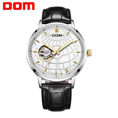 多姆(DOM)正品男士手表男自動鏤空機械表夜光時尚潮流簡約個性防水男士皮帶表