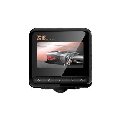 新款隱藏式行車記錄儀高清夜視360全景倒車影像電子狗一體機 黑色 套餐二單鏡頭