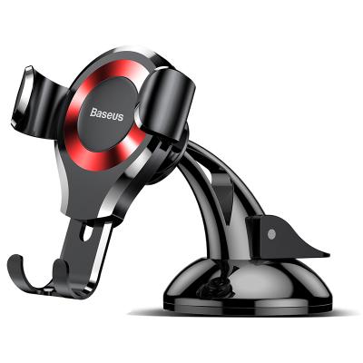 倍思(Baseus)車載手機支架 吸盤式重力車載支架汽車用品中控儀表臺通用多功能萬能車上支撐導航 黑+紅
