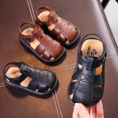 秋季男童包頭涼鞋學步鞋韓版中小童鞋2019寶寶軟底兒童男孩沙灘鞋 莎丞