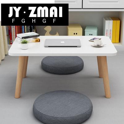 北歐榻榻米茶幾飄窗桌子小茶幾簡約日式窗臺地毯桌矮桌櫸木腿炕桌-t12