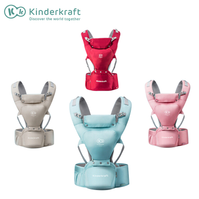 抖音同款德國Kinderkraft嬰兒背帶多功能四季通用輕便坐凳腰凳抱娃神器寶寶前抱式初新生兒型號Sling
