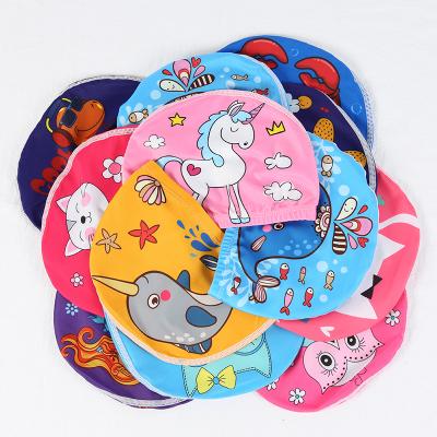 欣鴻茗廠家直銷兒童泳帽護耳可愛卡通男童女童小孩寶寶幼兒布款游泳布帽