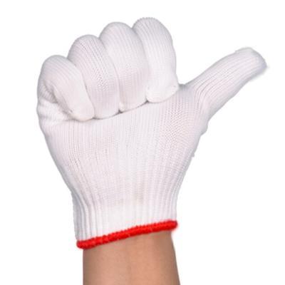 線手套棉線手套勞保手套漂白手套勞保棉紗手套 耐磨耐用(雙)