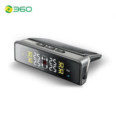 360胎壓監測儀Plus JP806 太陽能無線外置 胎壓胎溫精確同顯 耐高低溫 黑色