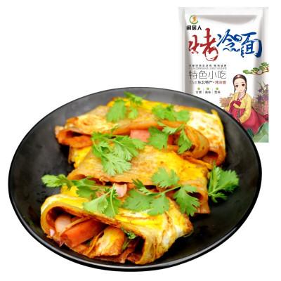 闲居人600g*3 烤冷面 东北烤冷面片 朝鲜族小吃 送秘酱+刷子