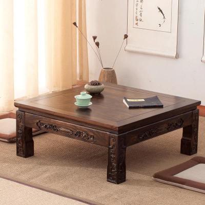 枳記家 日式榻榻米茶幾實木飄窗桌仿古老榆木炕桌炕幾矮桌簡約小桌子