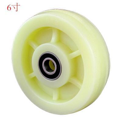 森美人6寸尼龍單輪國標款4寸5寸8寸平板推車輪子萬向輪工業腳輪轱轆 6寸