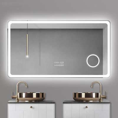 智能鏡子閃電客觸摸屏音樂led浴室鏡子燈鏡除霧衛浴鏡衛生間帶燈發光鏡