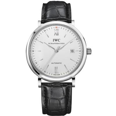 【二手95新】萬國 IWC 柏濤菲諾系列 自動機械紅60大三針男士皮帶手表瑞士 奢侈品 IW356501 白盤 銀針