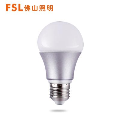 FSL佛山照明led燈泡 E27燈頭螺口球泡1-45W室內家用吊燈筒燈LED光源5W白光冷光(5000K以上)
