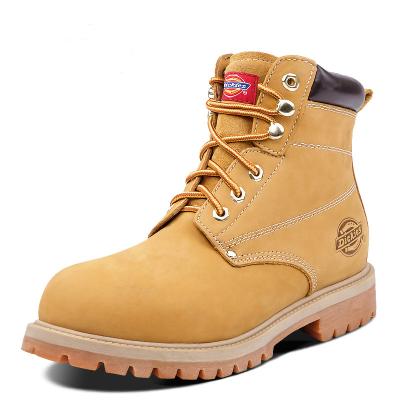 DICKIES歐美風馬丁靴秋季男靴子真皮踢不爛橡膠底大黃靴工裝靴男士短靴 174M50LXS26