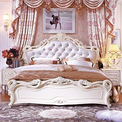 銳澳床歐式床輕奢單人雙人床實木雕花床高箱儲物床軟靠包公主床主臥室家具床1.5/1.8米婚床
