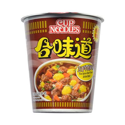 中國香港Cup Noodles合味道杯面 方便面 五香牛肉風味75g 方便速食杯面泡面開杯樂