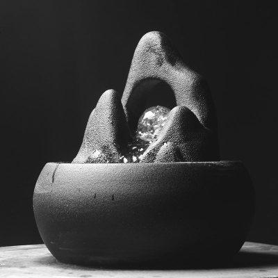 假山枯山水喷泉桌面装饰客厅书房办公室店铺开业礼品陶瓷流水摆件