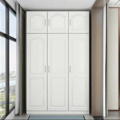 定制北欧阳台储物柜防晒收纳置物柜多功能衣柜经济型大容量柜子 3门加顶柜高240*长120*深50