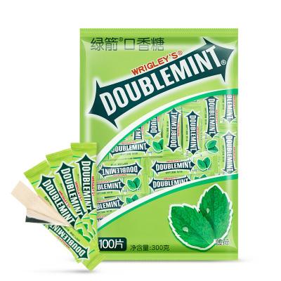 綠箭薄荷口香糖片裝100片袋裝原味清新口氣口嚼糖批發大瓶裝休閑零食