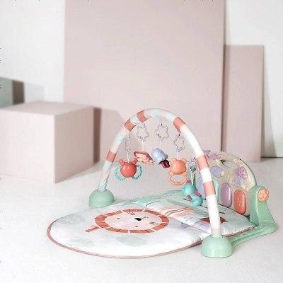 babycare嬰兒健身架腳踏鋼琴0-3-6-12個月新生兒寶寶益智音樂玩具嬰兒玩具 奧尼克獅子