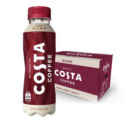 可口可樂COSTA COFFEE醇正拿鐵濃咖啡300ml*12瓶