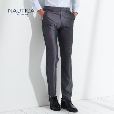 【4.5折價206】諾帝卡/NAUTICA TAILORED西褲男士新品夏季純色西褲都市商務正裝長褲