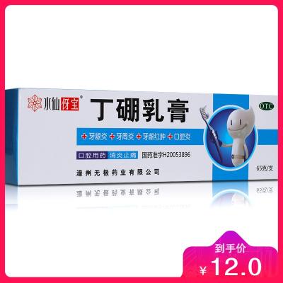 水仙牌 丁硼乳膏 65g 牙齦炎 牙齦紅腫 腫痛出血 牙周炎 牙痛藥