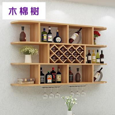 创意酒柜墙上壁挂酒架吊柜墙壁装饰架简约现代实木格子置物架