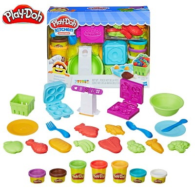 孩之宝Hasbro 培乐多创意厨房系列 6-10色DIY彩泥橡皮泥 3岁以上男女孩儿童玩具礼物超市买买乐套装E1936