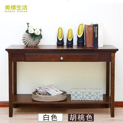 枳記家 新中式玄關桌美式實木玄關柜現代簡約條案幾窄桌沙發背幾