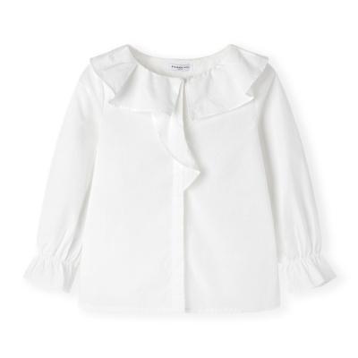 【1件5折】巴拉巴拉女童洋气白衬衫宝宝衬衣秋装2019新款儿童上衣纯棉寸衫女