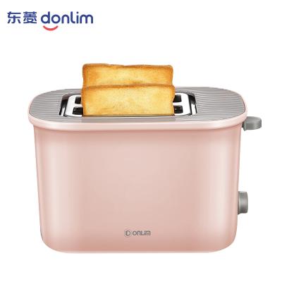 东菱(Donlim)多士炉DL-8155面包机多士炉烤面包机2片吐司机家用早餐机三明治机 粉色