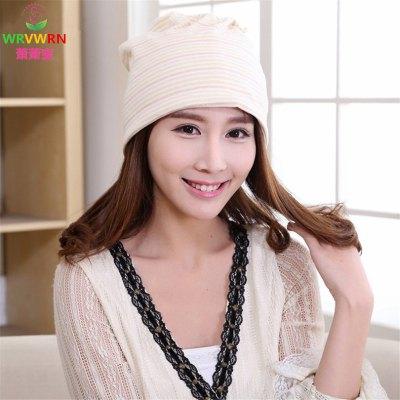 月子帽产后透气时尚孕妇月子头巾彩棉堆堆帽子春秋冬婴儿胎帽用品