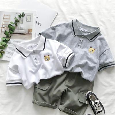 夏季新款兒童POLO衫男童短袖T恤女童短袖寶寶上衣韓版潮運動休閑3 娜蜜雨(NAMIYU)