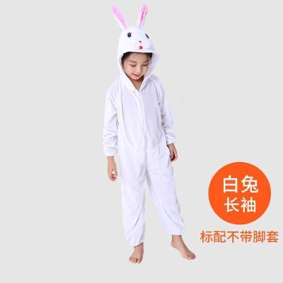 兒童動物演出服裝幼兒園老虎小兔子小青蛙小老鼠小熊狐貍表演衣服