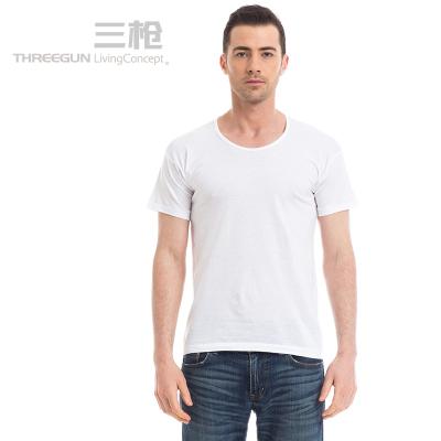 三槍純棉夏季汗布運動短袖T恤衫21095