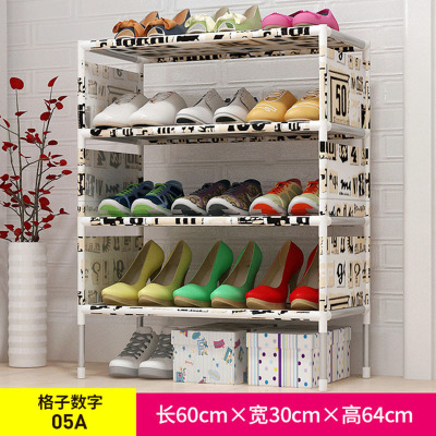 簡易鞋架 無紡布鐵藝多層組裝鞋柜客廳臥室門口防塵收納鞋架子