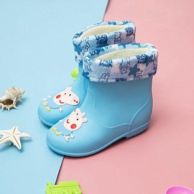 2018新儿童雨鞋男童女童宝宝雨靴防滑公主可爱水靴小孩水鞋套胶鞋
