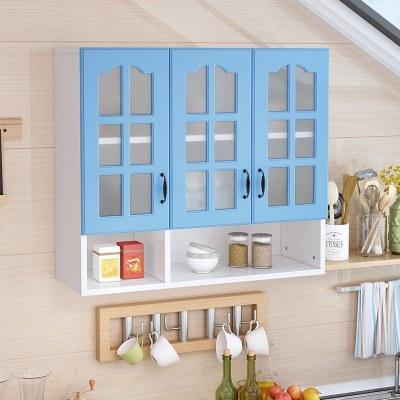 枳記家 廚房實木吊柜壁柜陽臺儲物柜臥室墻柜儲物收納柜衛生間壁柜玻璃