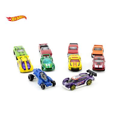 Hot Wheels風火輪火辣小跑車十輛裝兒童玩具車模男孩女孩禮物 款式隨機發貨 54886