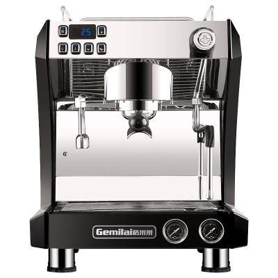 格米莱(GEMILAI) 意式咖啡机商用半自动专业蒸汽拉花 不锈钢黑色 3121A旋转泵
