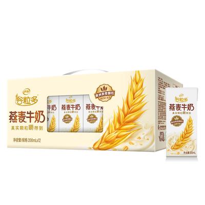 【6月】伊利谷粒多燕麥牛奶12盒*200ml