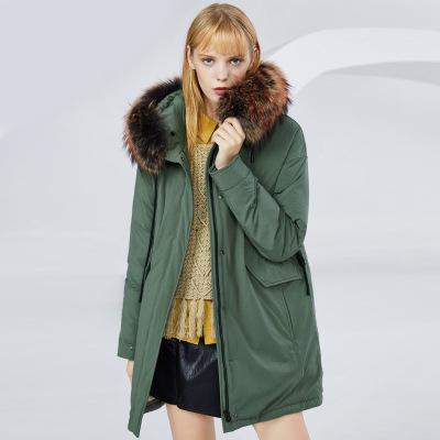 BOSIDENG брэндийн өвлийн эмэгтэй зузаан куртка B80141130 155/80A ногоон4201