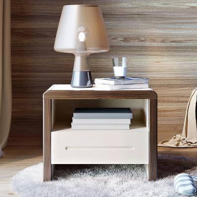 林氏木业床头收纳柜现代简约小柜子北欧经济型家具卧室储物柜BA1B