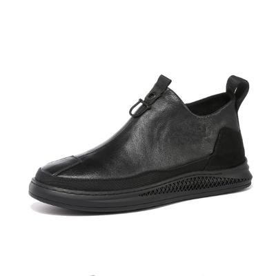ECCO 爱步 头层牛皮加棉男士拉链中帮休闲皮鞋保暖鞋861895