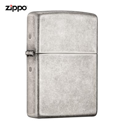 zippo芝寶打火機美國原裝ZIPPO之寶防風煤油打火機121FB仿古銀 121FB-045098