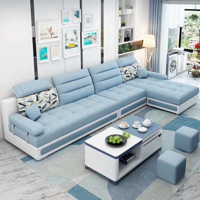 沙發小戶型客廳整裝現代簡約三人組合省空間可拆洗布藝沙發經濟型
